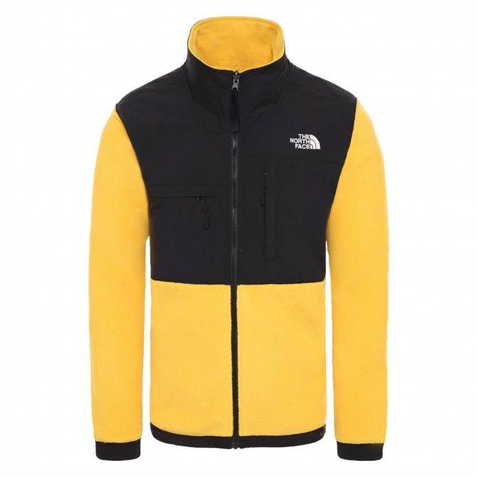 The north Face Denali jacket man yellow