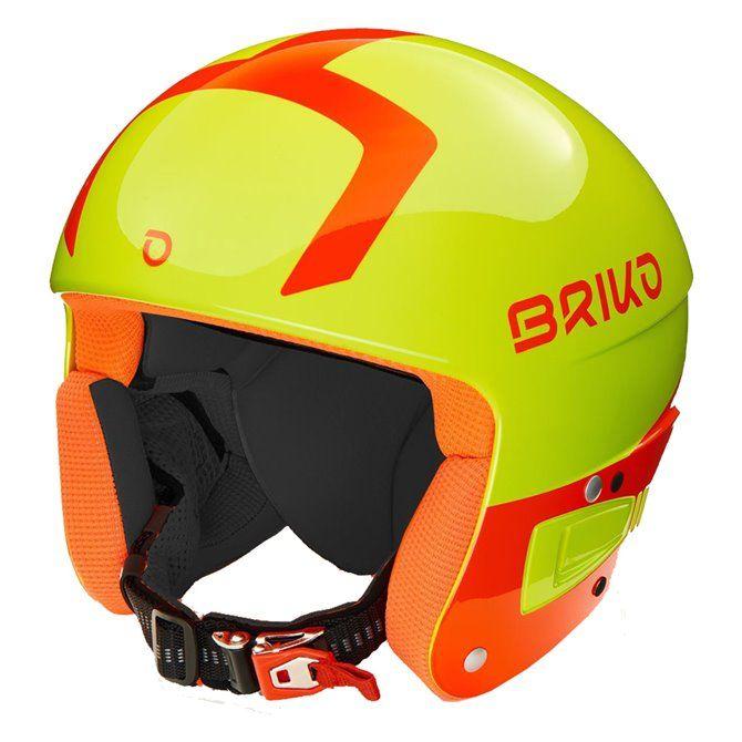 Casco sci Briko Vulcano Fis 6.8 shiny orange fluo black