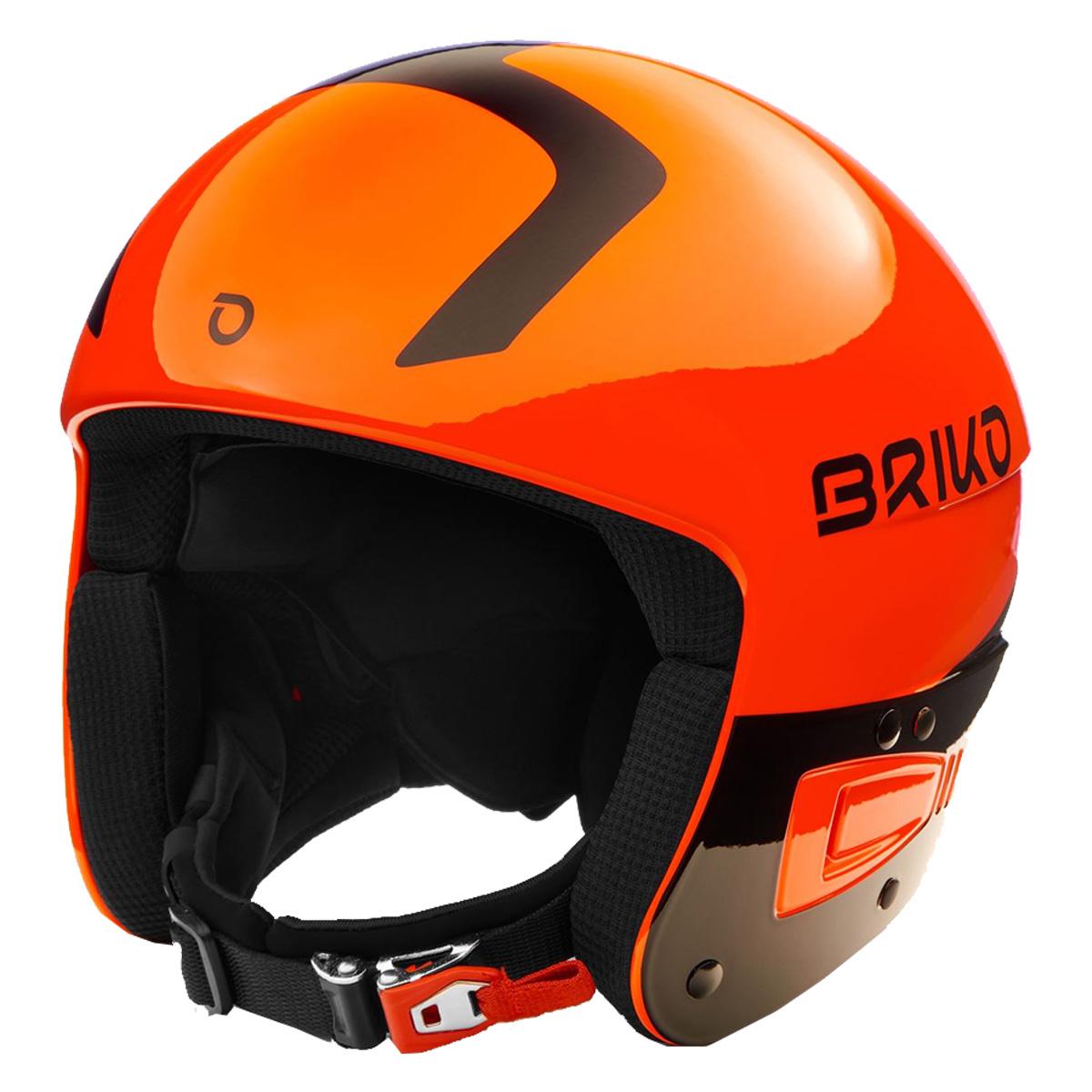 Casco sci Briko Vulcano Fis 6.8 (Colore: shiny orange fluo black, Taglia: S/M)