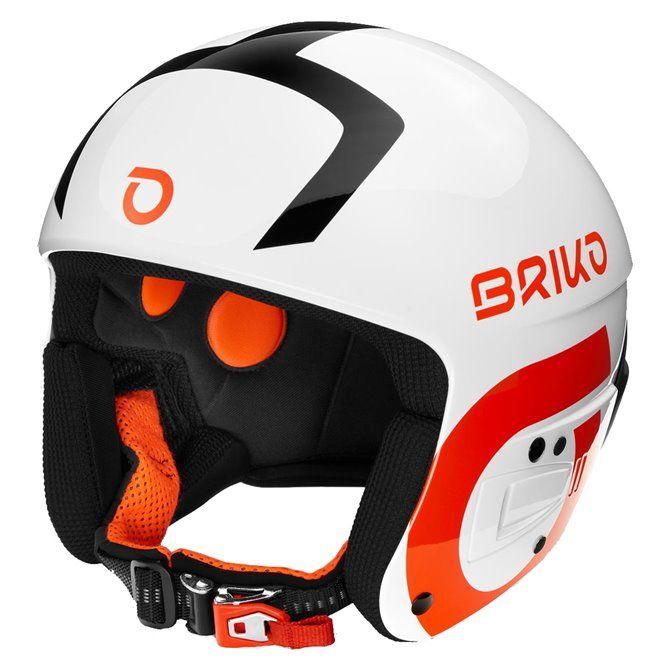 Casco sci Briko Vulcano Fis 6.8 white black orange
