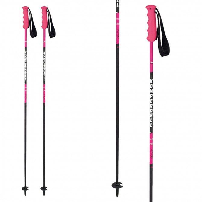 Bâtons de ski Komperdell Pink Champ Carbon Anna femme
