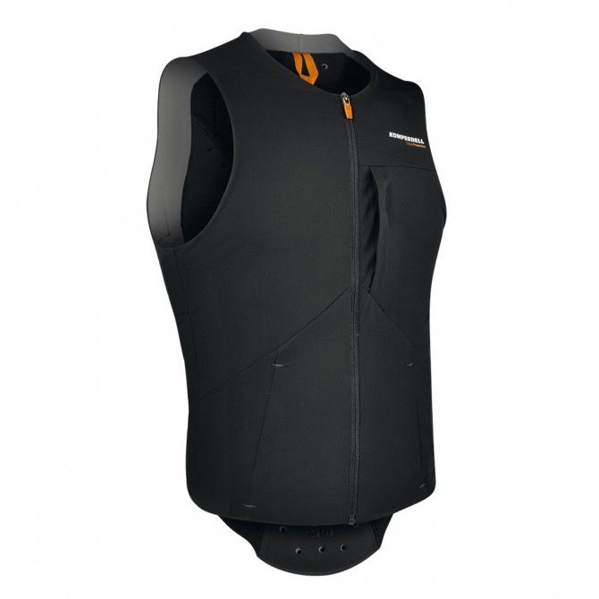 Gilet con protezioni Komperdell Air nero-arancione
