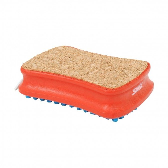 Brush rect combi cork/nylon