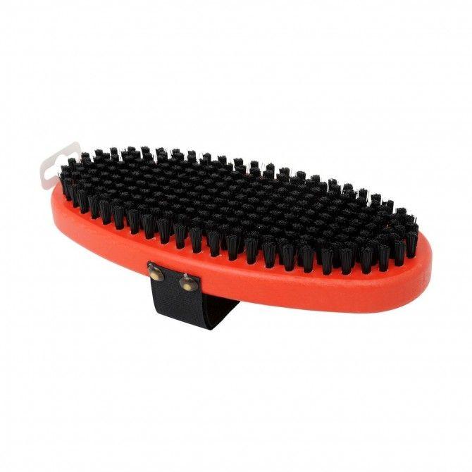 Brosse ovale en nylon noir rigide