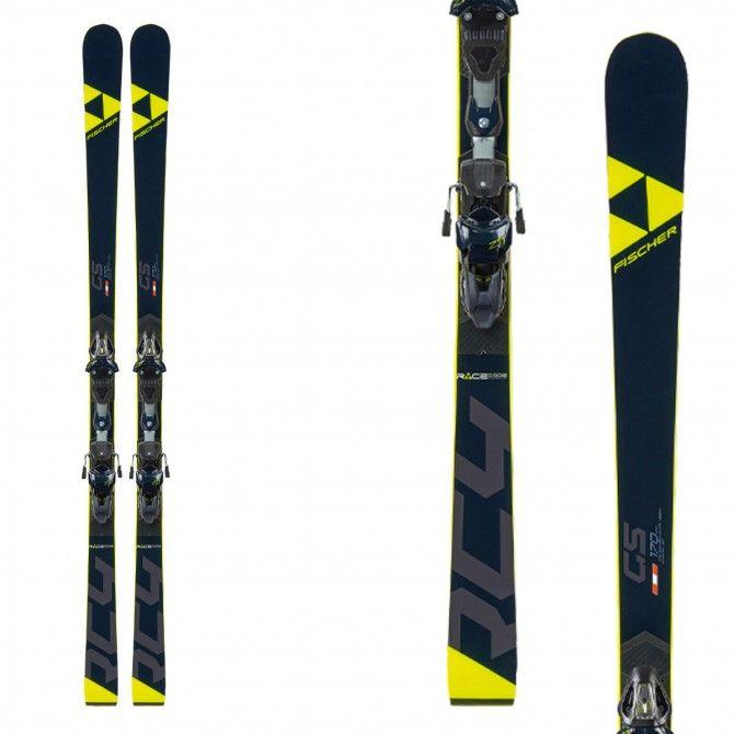Ski Fischer RC4 WC GS Jr Curv Booster avec fixations RC4 Z11 GW Powerrail