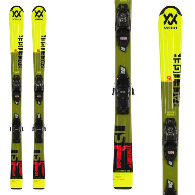 Ski Volkl Racetiger Jr Yellow with bindings vMotion 7.0