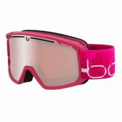 Máscara de esquí Bubbles Maddox rosa bermellón mate