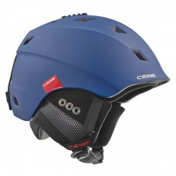 Casco sci Cebe Ivory mat navy red