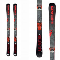 Ski Head Monster 88 Ti avec Attack 13 Barke 95 fixations