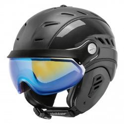 Casco sci Slokker Bakka visor carbon-bianco