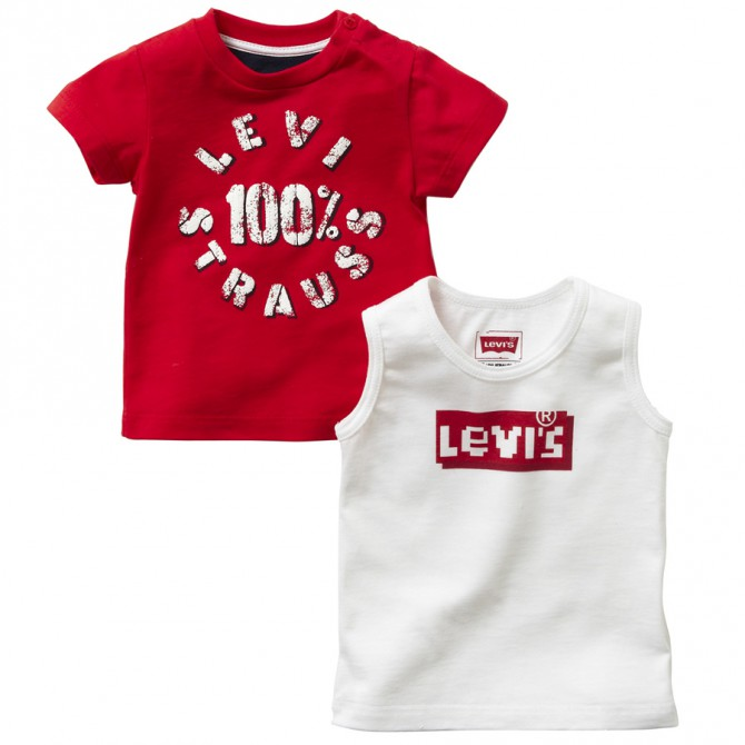 t-shirt + chaleco Levi's Baby