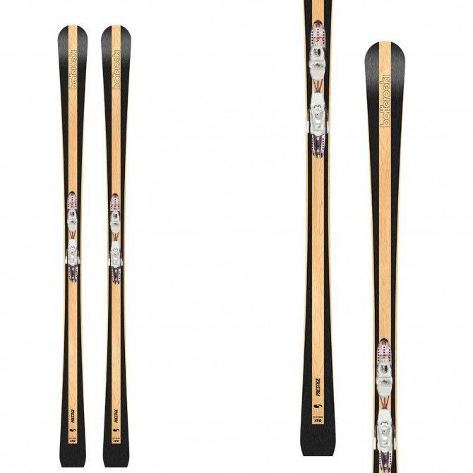 Ski Bottero Ski Prestige Wood avec plaque Vist X-Step et fixations Vist VSP310