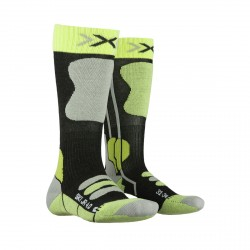 Calze sci X-Socks 4.0 anthracite mel-green lime
