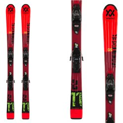 Ski Volkl Racetiger Jr Red avec fixations 7.0 vMotion