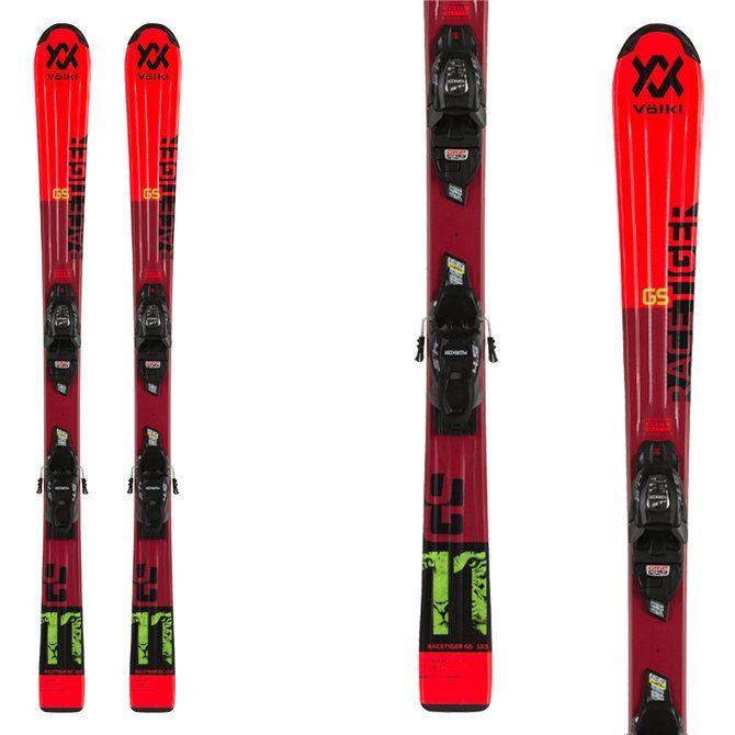 Ski Volkl Racetiger Jr Red with bindings 4.5 vMotion