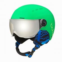 Casco sci Bolle Quiz visor matte green