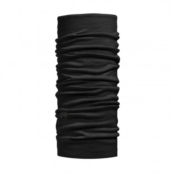 Scaldacollo Buff Wool Merino nero