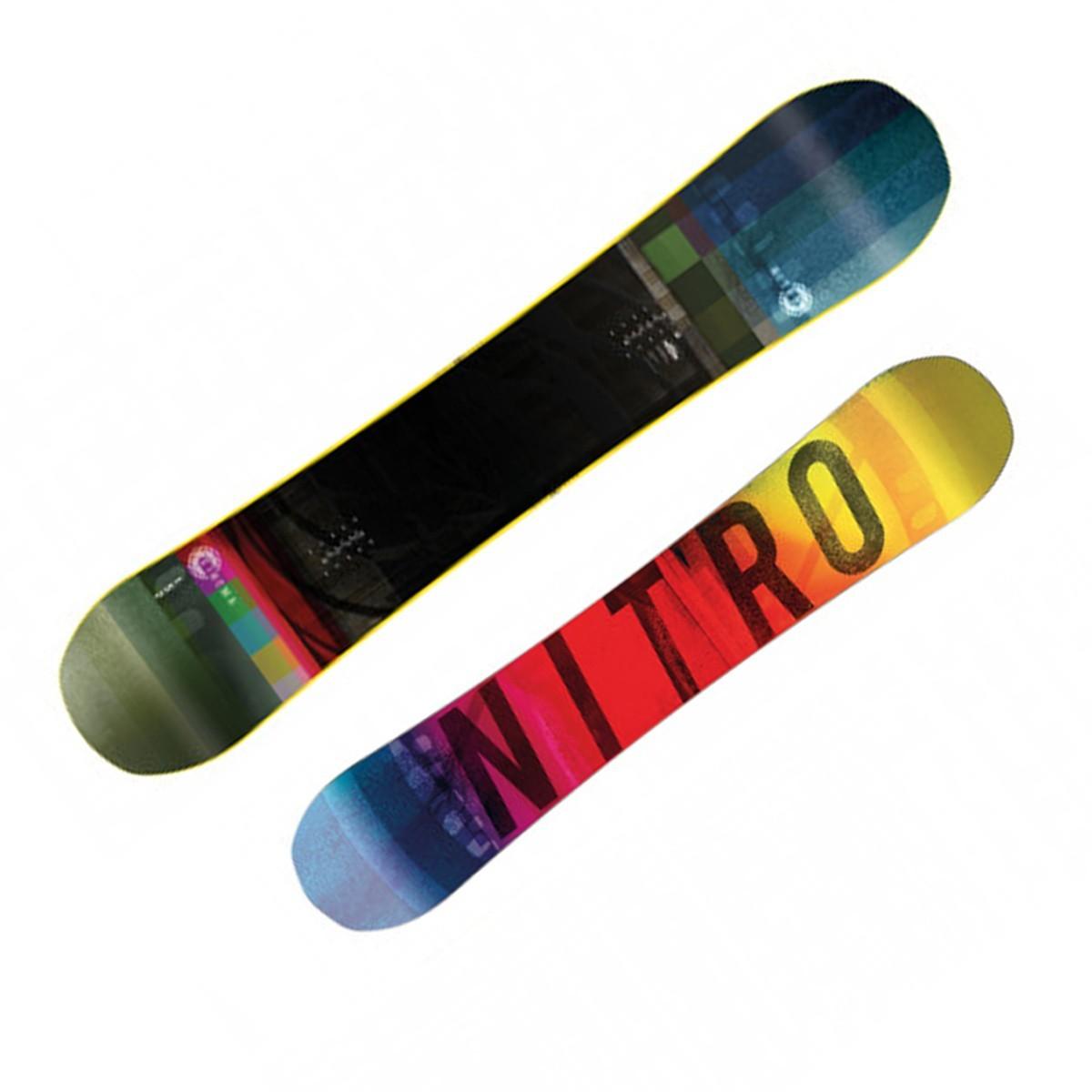 Snowboard Nitro Cinema rental (Colore: verde-grigio-giallo, Taglia: 159)