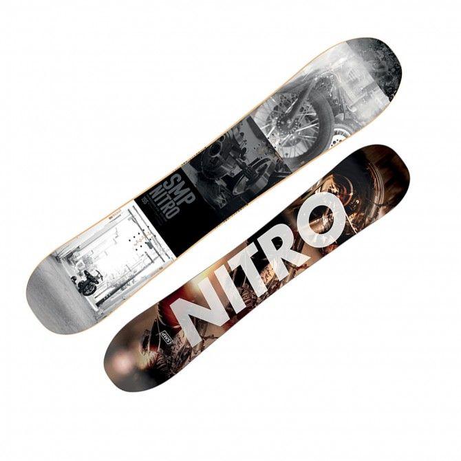 Snowboard Nitro Smp grigio-nero-bianco
