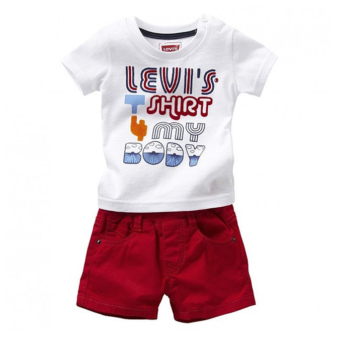 completo short + t-shirt Levi's Baby