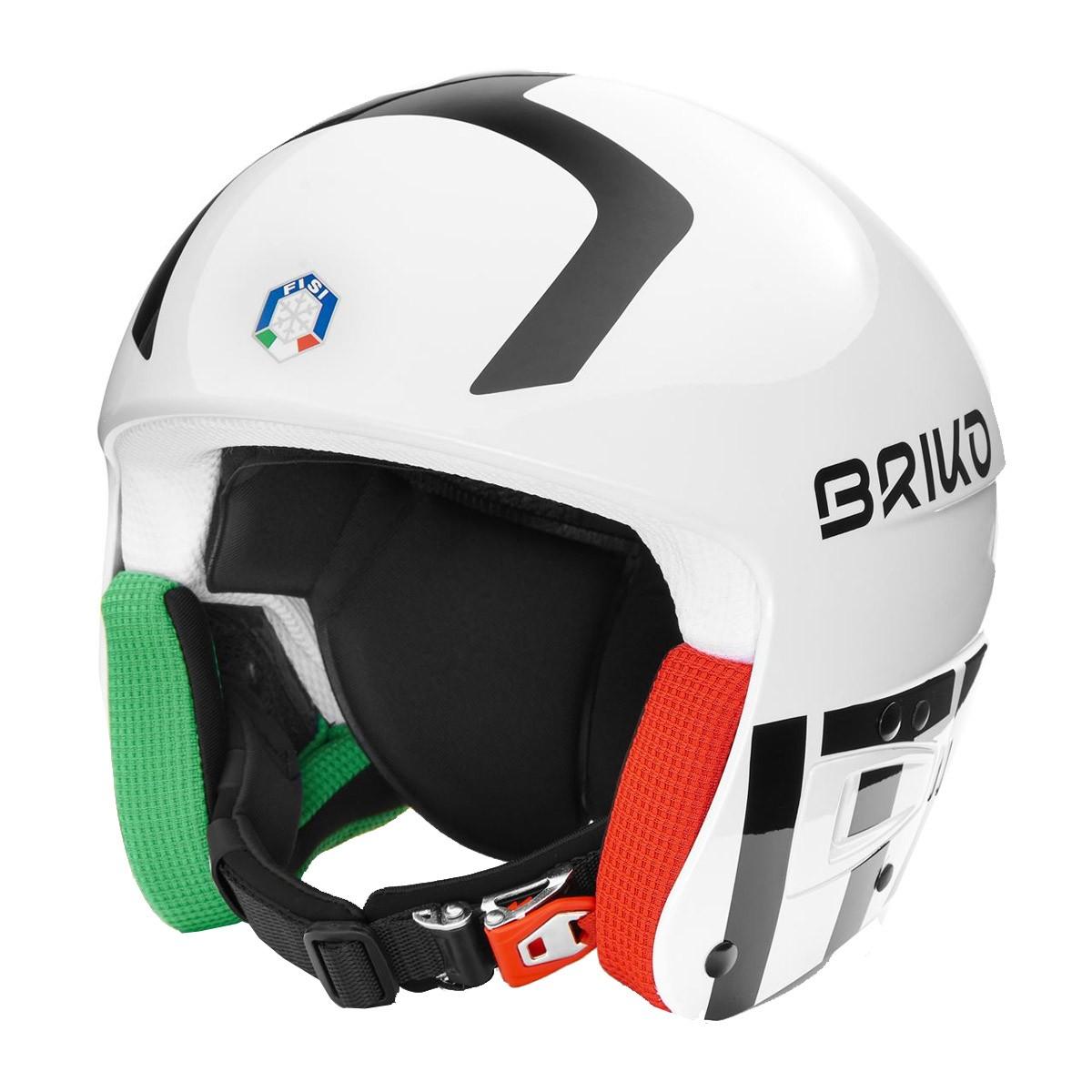 Casco sci Briko Vulcano 6.8 (Colore: shiny white black, Taglia: S/M)