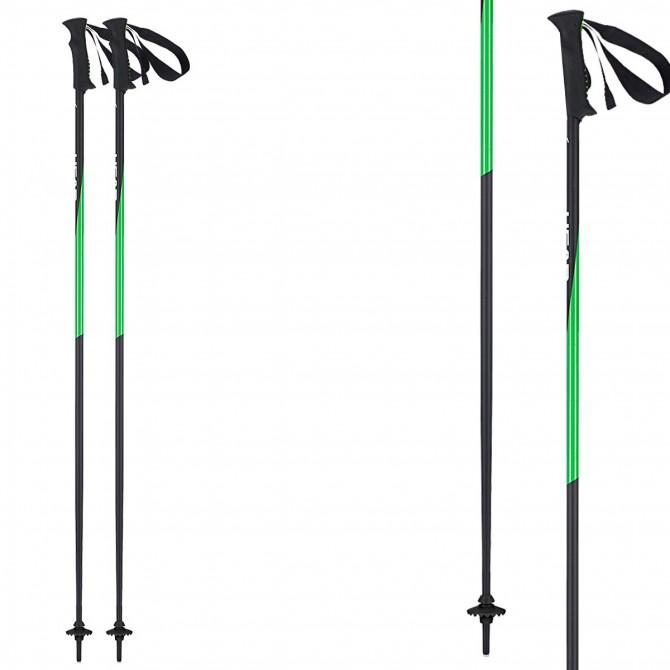 Ski poles Head Head Pro black-green
