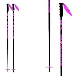 Bastoni sci Rossignol Stove nero-rosa