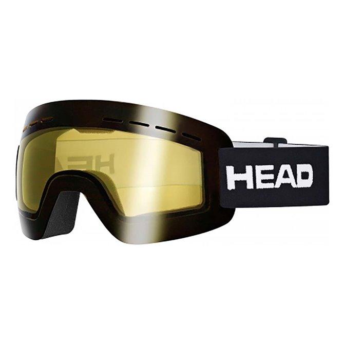 Maschera sci Head Solar storm nero-giallo