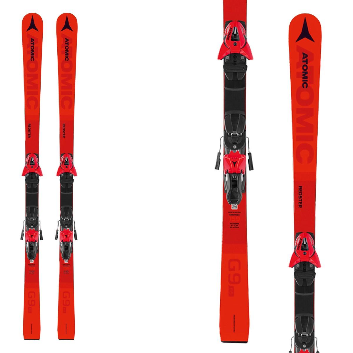 Sci Atomic REDSTER G9 FIS J-RP con attacchi Z 10 Red (Colore: rosso, Taglia: 131)