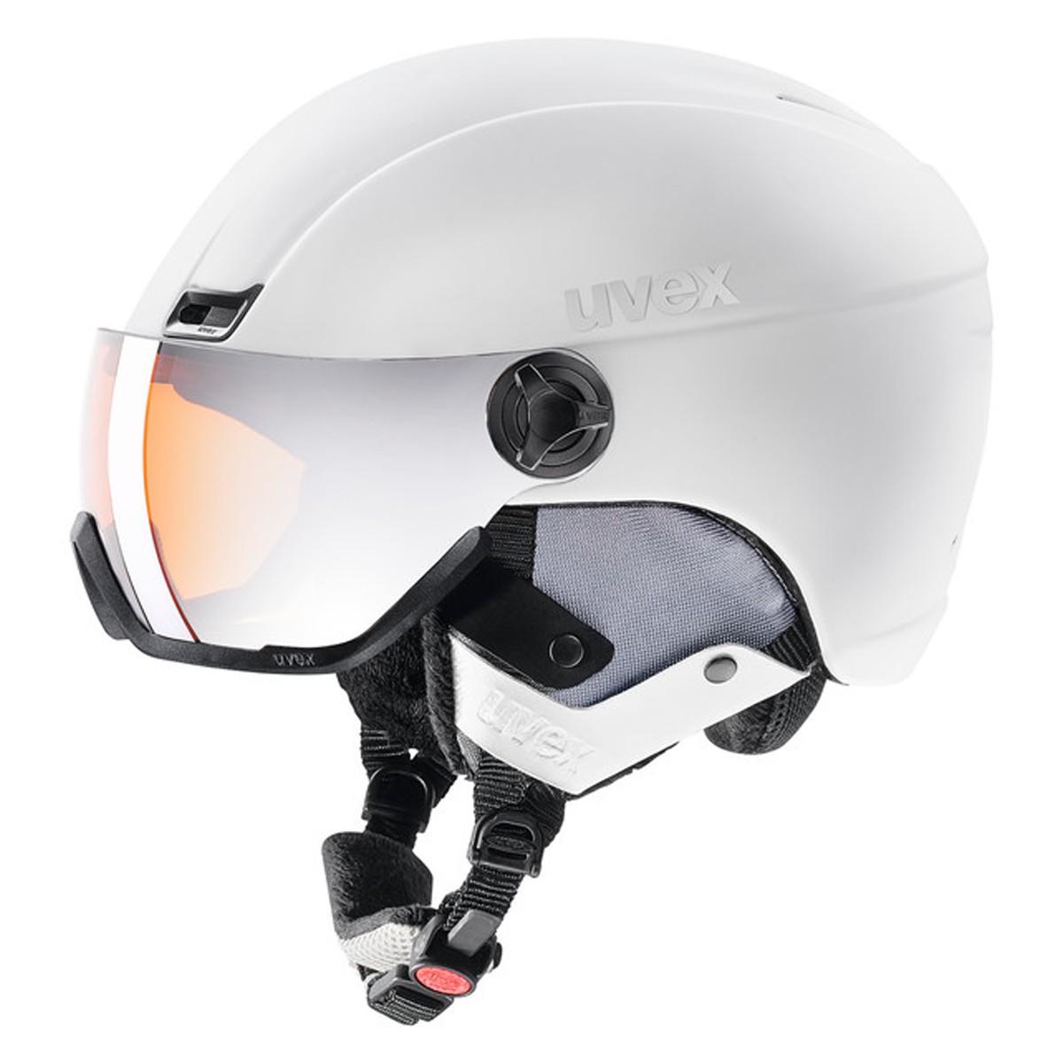 Casco sci Uvex Hlmt 400 Visor style (Colore: White, Taglia: 58/61)