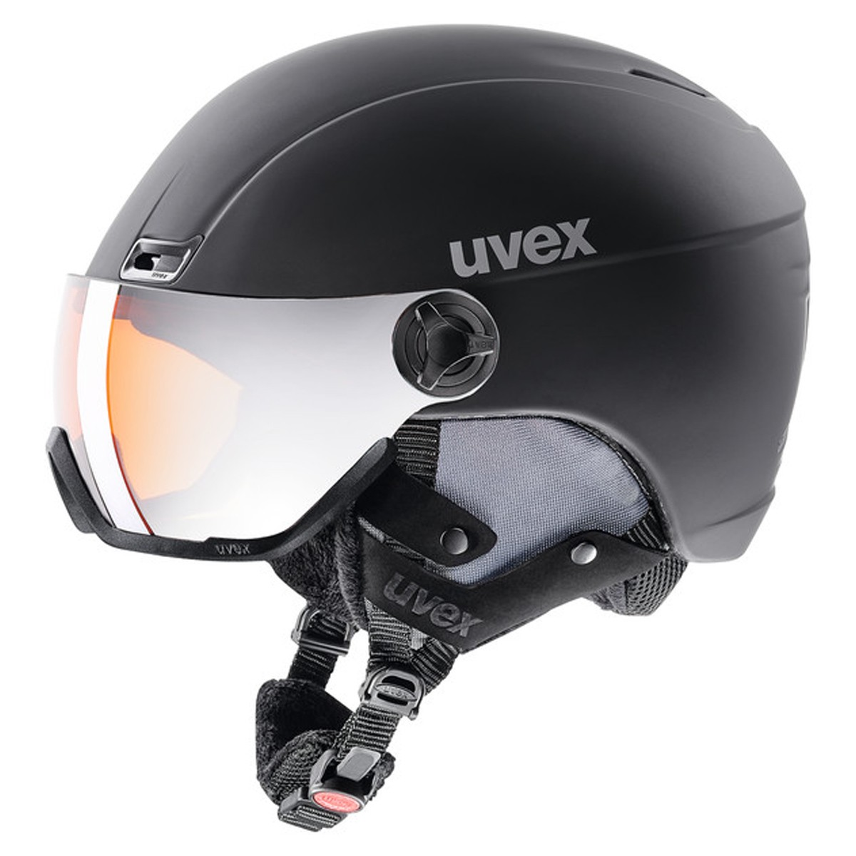 Casco sci Uvex Hlmt 400 Visor style (Colore: Black, Taglia: 58/61)