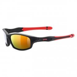Occhiale sole Uvex Sportstyle 507 nero-rosso