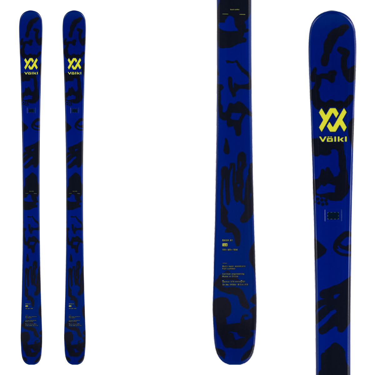 Sci Volkl Bash 81 (Colore: blu-nero, Taglia: 178)