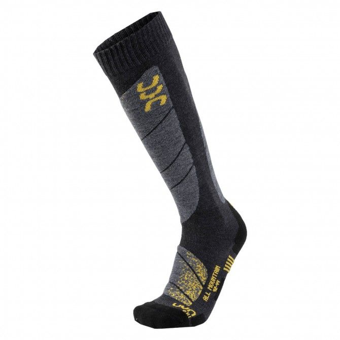Calze Uyn All Moutain anthracite melange/yellow