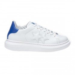 White-blue 2Star Low men's sneakers