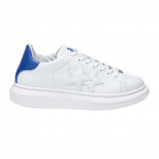 Zapatos deportivos 2Star Low blanco-azul para hombre
