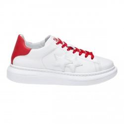 Zapatillas de hombre 2Star Low blanco-rojo