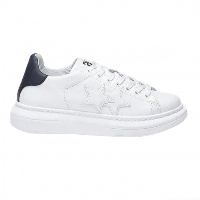 Zapatillas de hombre 2Star Low blanco-negro