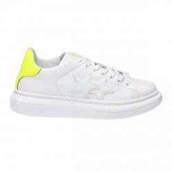 Zapatillas de hombre 2Star Low blanco-amarillo fluo
