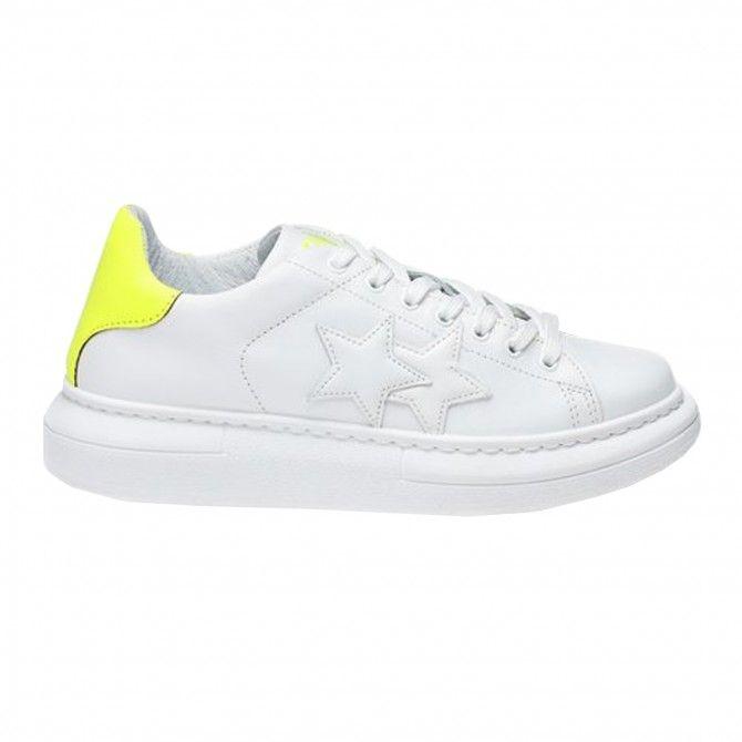 Sneakers 2Star Low da uomo bianco-giallo fluo Sneakers