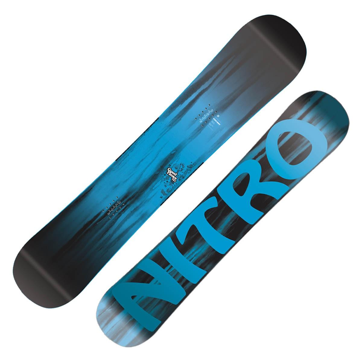 Snowboard Nitro Good Times Wide (Colore: nero-verde, Taglia: 157)