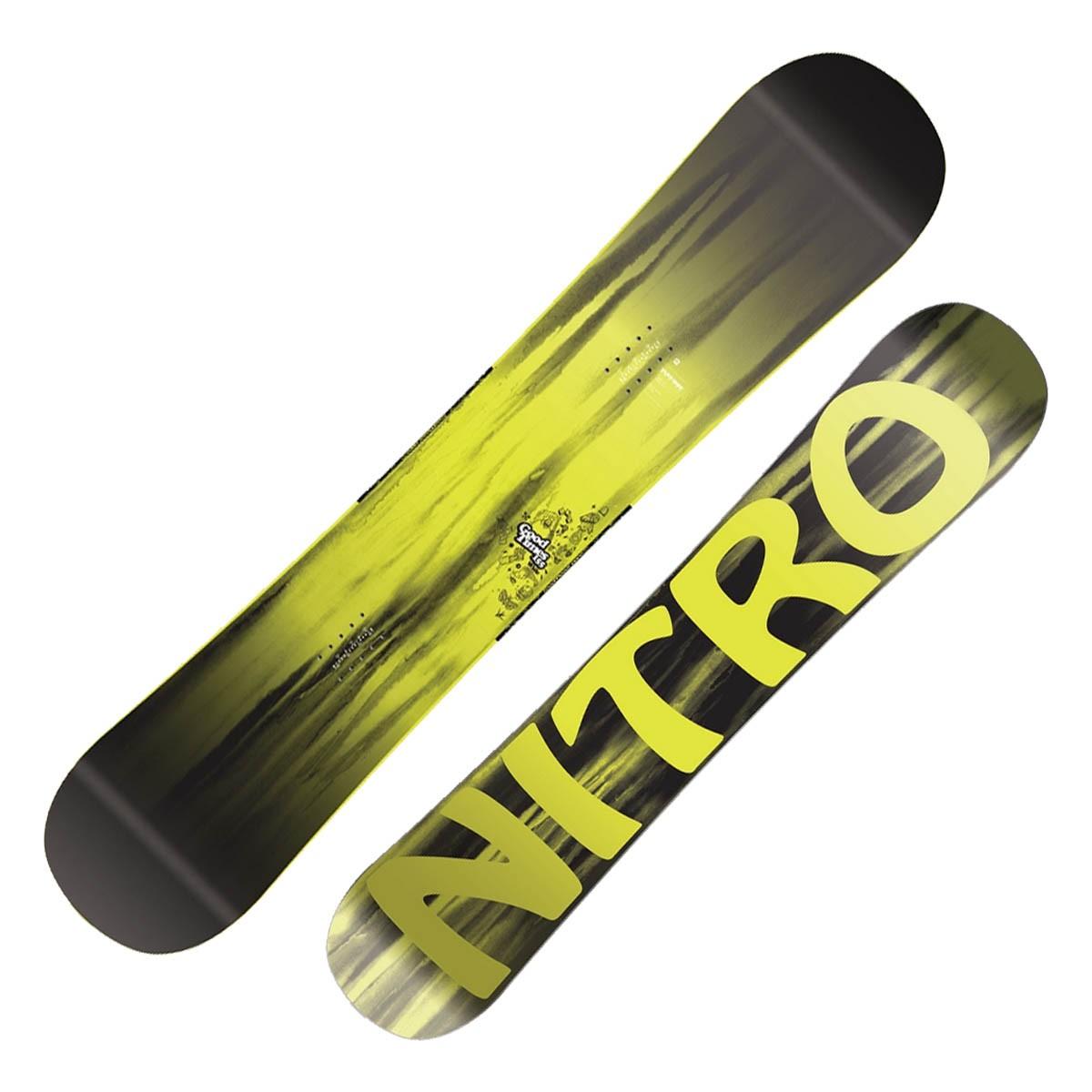 Snowboard Nitro Good Times Wide (Colore: nero-giallo, Taglia: 155)