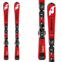 Nordica esqui Team J Race Fdt 110-140 avec fixations Jr 7.0 Fdt