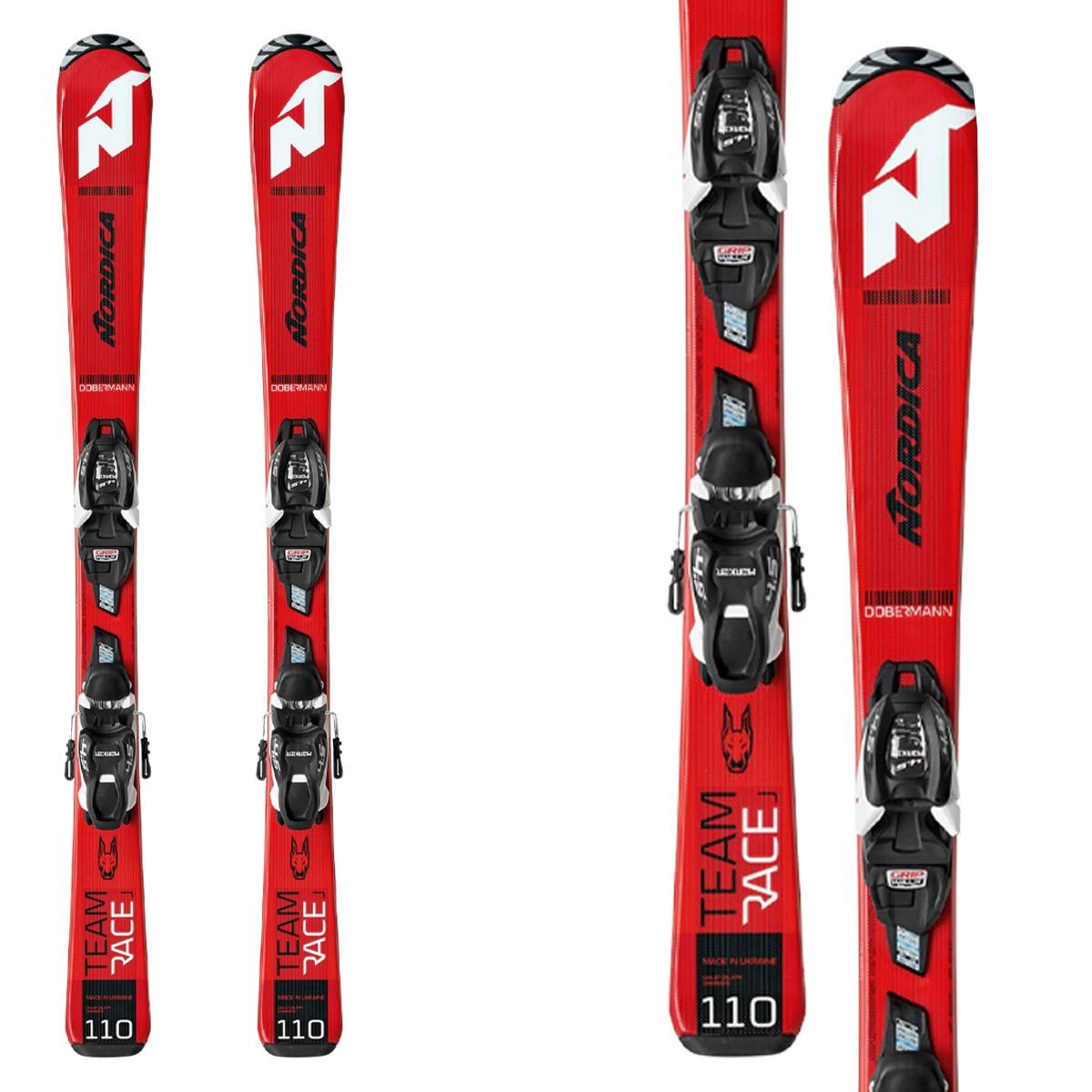 Sci Nordica Team Race Fdt 110-140 con attacchi Jr 7.0 Fdt (Colore: red-black, Taglia: 130)