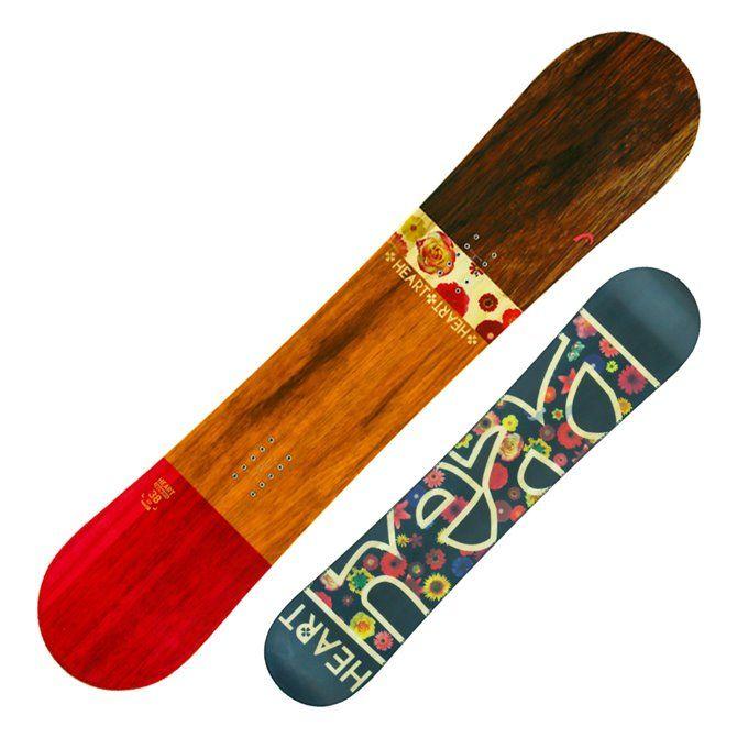 Snowboard Head Heart marrone-fucsia