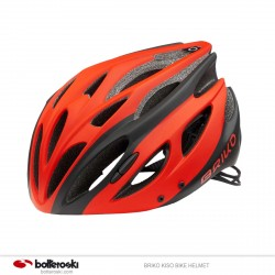 Casco ciclismo Briko Kiso black-red