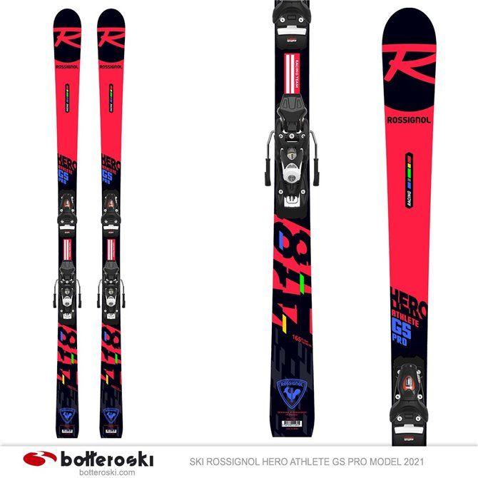Sci Rossignol Hero Athlete GS Pro modello 2021 con attacchi Spx 10 Gw B73 junior da slalom gigante
