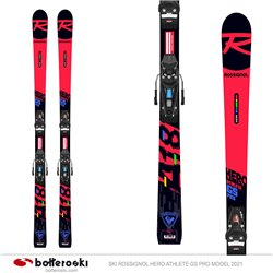 Ski Rossignol Hero Athlete GS Pro model 2021 with Nx 10 Gw B73 bindings