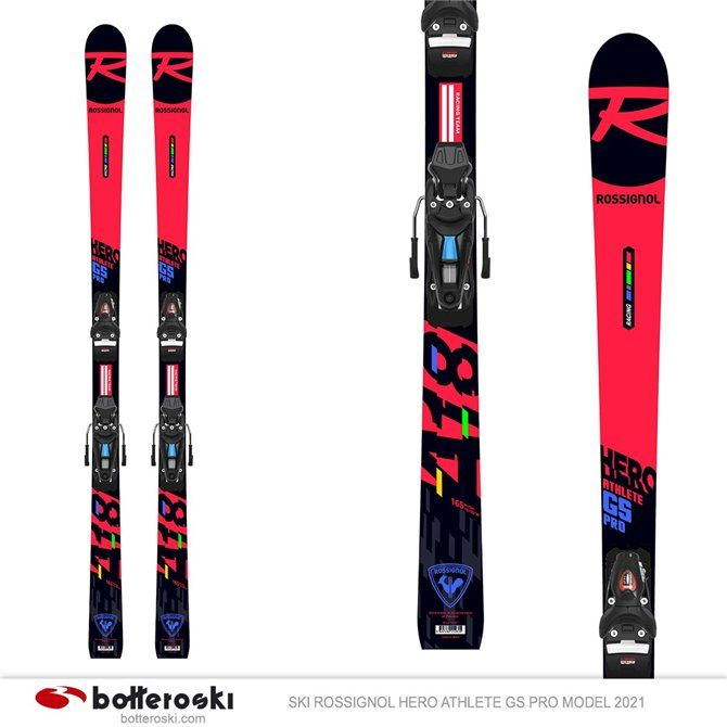Esquí Rossignol Hero Athlete GS Pro modelo 2021 con fijaciones Spx 10 Gw B73
