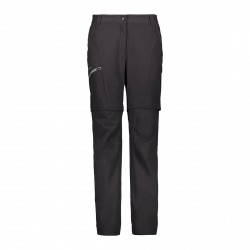 Pantaloni da donna Cmp Zip Off - Antracite